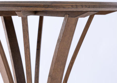 ワインやウイスキーの樽をリメイク。地球環境に配慮した釘不使用・樽材再生材の木製テーブルセット『Cask Reborn(カスク リボーン)』ハイテーブルL カウンターチェア セット