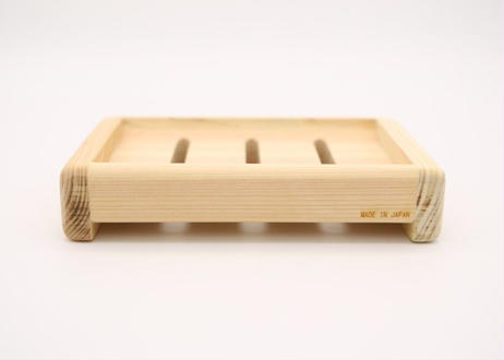純米酒粕石鹸・国産天然ひのき石鹸台・泡立てネット 3点セット