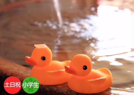 【土日祝・小学生限定】鶴見緑地湯元水春 レンタルタオルセット付ご入浴チケット