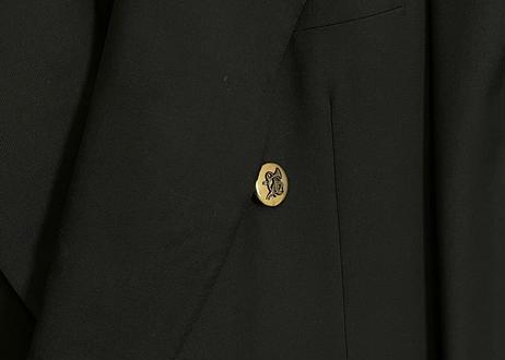 hermes gold button cashmere wool blazer