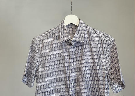 louis vuitton logo motif shirt