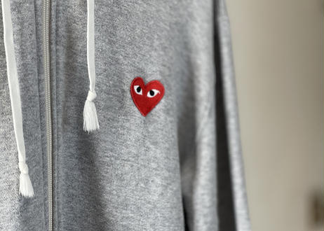 play comme des garcons zip up hoodie