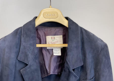 70s gucci leather tailored jacket