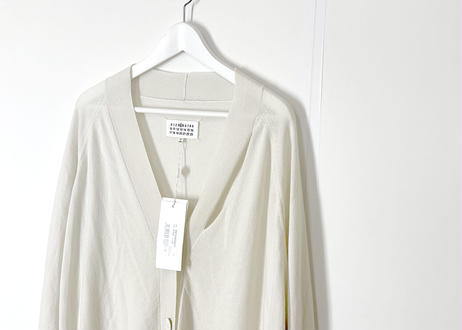 2019ss maison margiela cashmere over size cardigan white dead stock