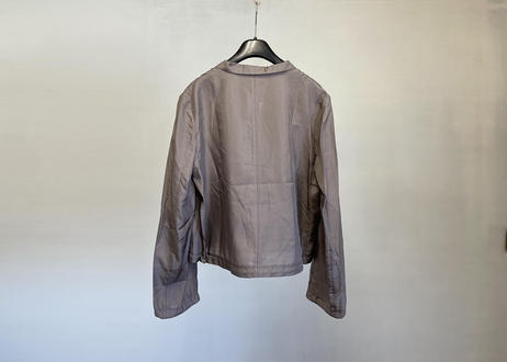 jilsander silk shirt jacket