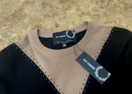 raf simons × fred perry  knit dead stock