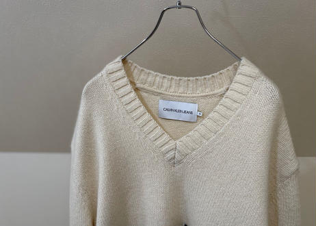 calvin klein jeans × raf simons low gauge knit