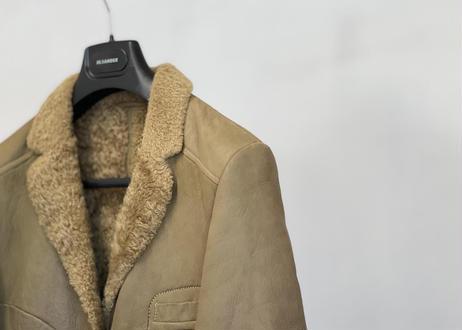 jilsander mouton leather coat