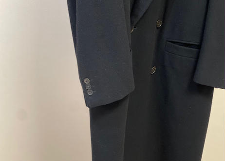 80s gianni versace cashmere wool double chesterfield coat