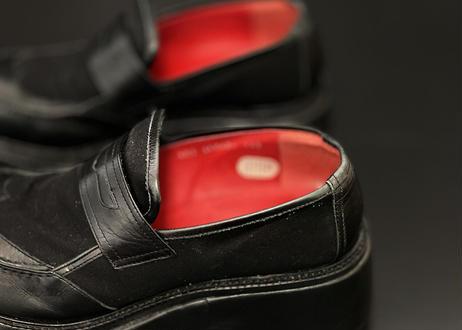 jean paul gaultier leather platform shose
