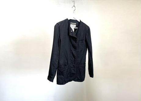 mm6 maison margiela military jacket black