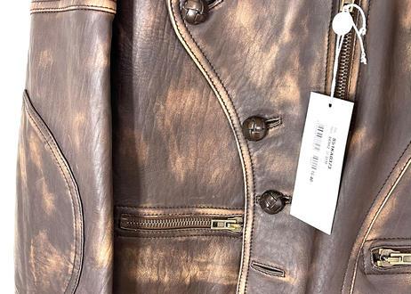 "2017ss maison margiela ""白タグ"" leather jacket dead stock"