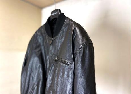 80-90s mani giorgio armani leather jacket