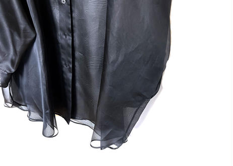 maison margiela over size silk long shirt dead stock