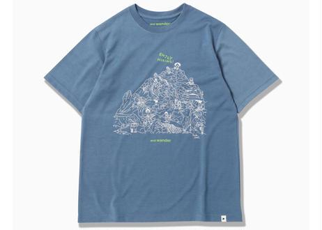 【山頂柄】and wander × 鈴木ともこ オリジナルTシャツ