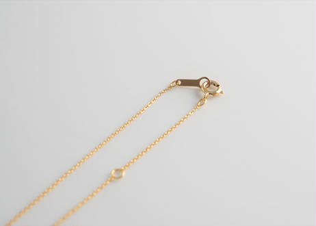 HANA Pendant necklace【Clear / Gold】