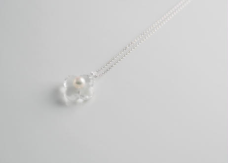 HANA Pendant necklace  【Clear / Silver】