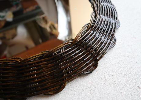 ribbon mirror (large size)    dark brown
