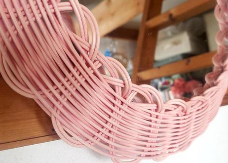 ribbon mirror  (large size)    pink
