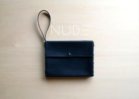 NUDE - clutch bag -   [ black ]