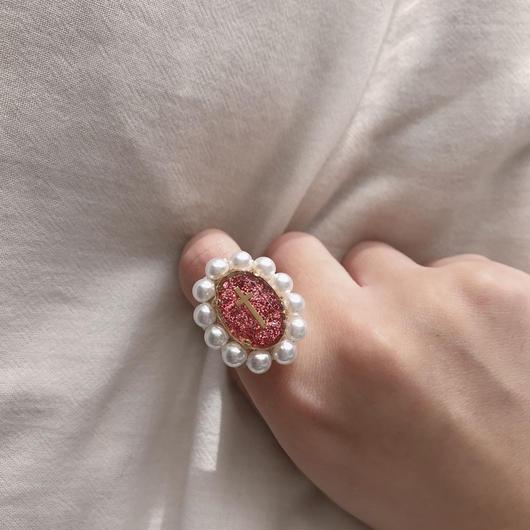 Glitter Perl Ring