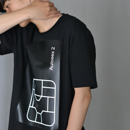 PETER SAVILLE x PACO RABANNE / AUTOSEX Tee-shirt - BLACK
