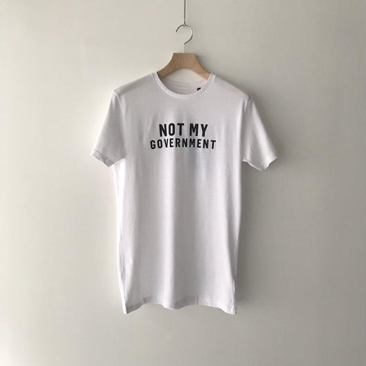 SIGHT STORE / NOT MY GOVERNMENT T-shirt - WHITE
