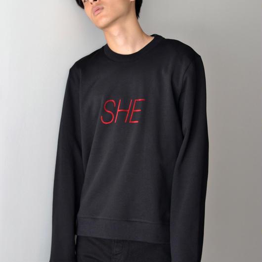 PETER SAVILLE x PACO RABANNE / SHE Sweat-shirt - BLACK