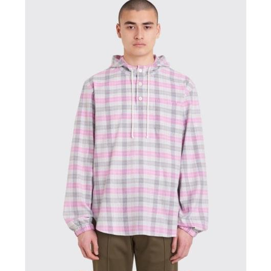 TRÈS BIEN / POP OVER SHIRT FLANELL - MAGENTA CHECK