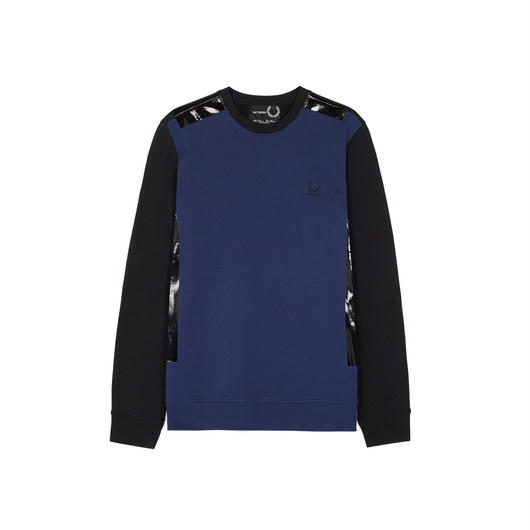 FRED PERRY x RAF SIMONS / Tape Detail Sweat - FRENCH NAVY