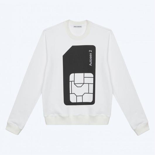 PETER SAVILLE x PACO RABANNE / AUTOSEX Sweat-shirt - WHITE