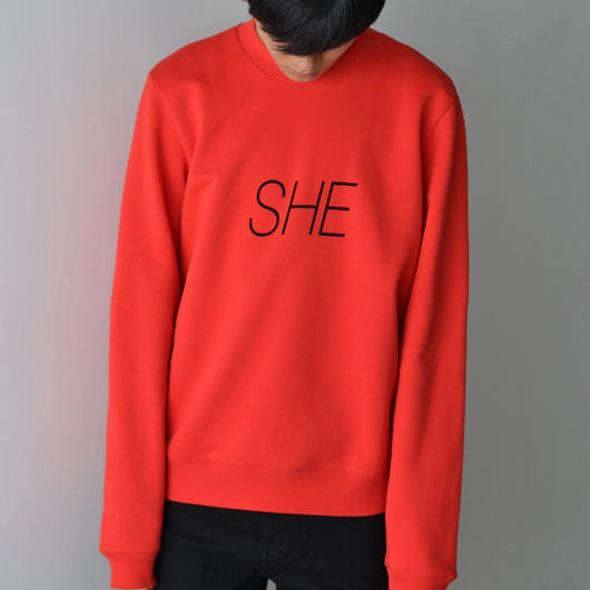 PETER SAVILLE x PACO RABANNE / SHE Sweat-shirt - RED