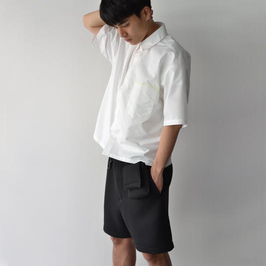 ROTOL / FLY FRONT SHIRT H/S - WHITE