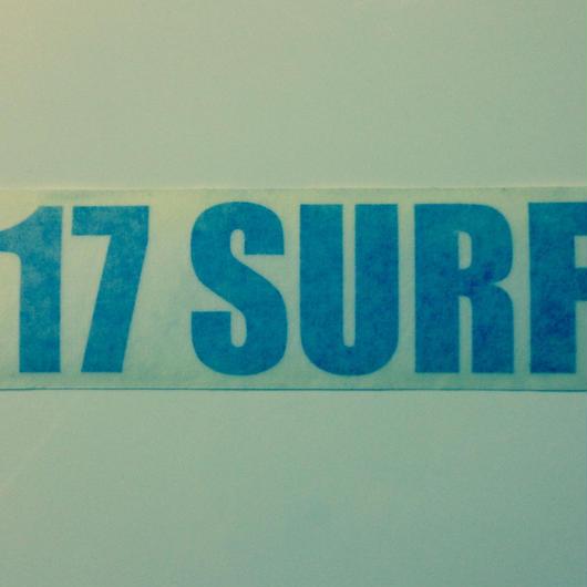 17SURF ステッカー ブルー