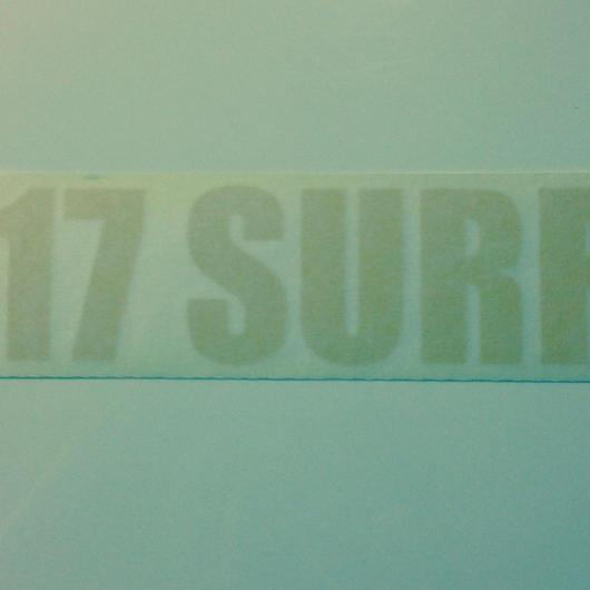 17SURF ステッカー イエロー