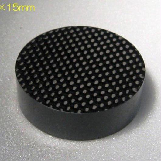 ドライカーボン無垢 インシュレーター 10厚   (50角 or 50Φ) ※受注生産(1週間~10営業日)