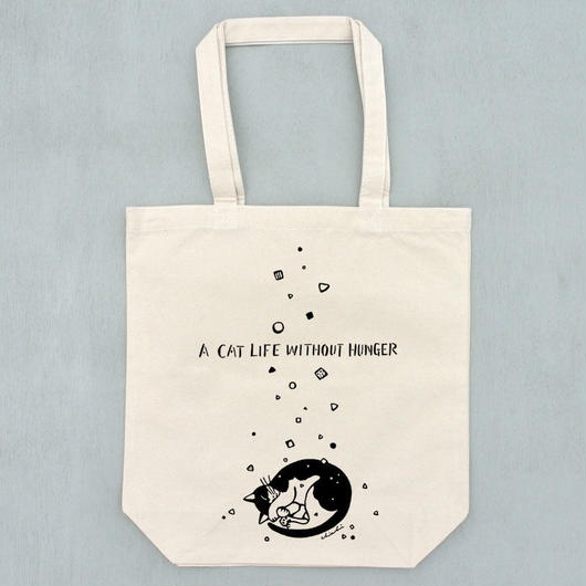 猫に降るカリカリ トートバッグ
