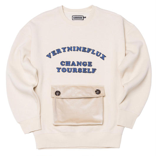 ▷Coming Soon◁ Verynineflux ADORABLE CREWNECK (Beige)