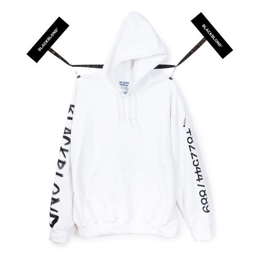 Blackblond BBD Graffiti Number Hoodie (White)