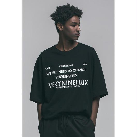 Verynineflux NUMBER 9 T-SHIRT  (Black)
