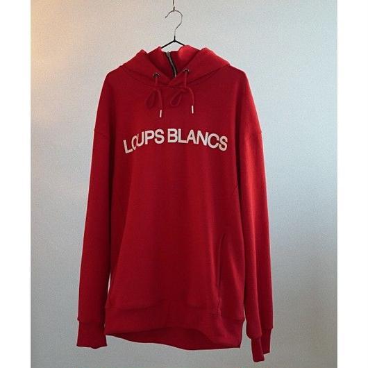『LOUPS BLANCS』Logo Half Zip-up Turtle Neck HOOD (Red)