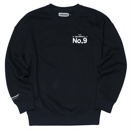 ▷Coming Soon◁ Verynineflux NINTH CREWNECK (Black)