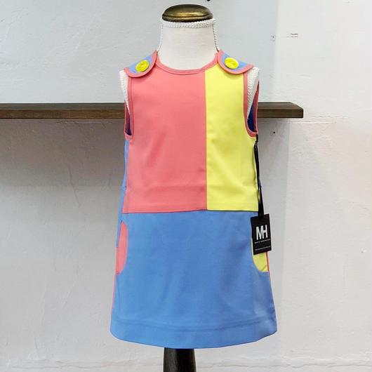 北欧ブランドワンピース Emilia bebe 1172275  Sleeveless pastel dress in block colors