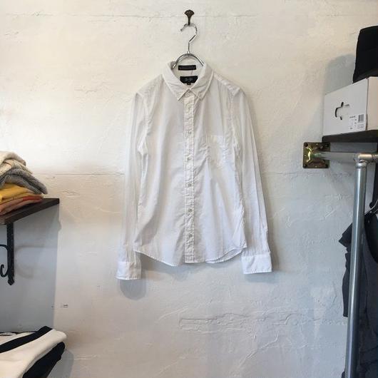 slic*slic 無地長袖 シャツ ホワイト