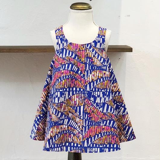 北欧ブランドプリント柄ワンピース Suvi bebe 1172050 Kids dress with lining Sinikka print
