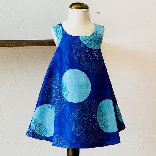 北欧ブランドプリント柄ワンピース Suvi bebe BLUE MOON Kids dress