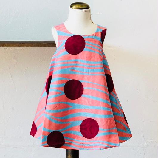 北欧ブランドプリント柄ワンピース Kids dress PINK RIVER