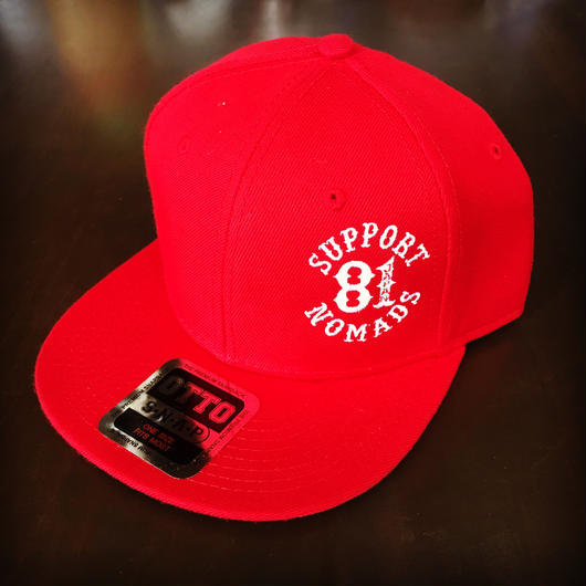 SUPPORT 81 SIDE Logo Cap_Red_Snapback