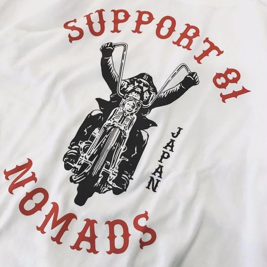 SUPPORT 81 Old Biker Tee - WHITE
