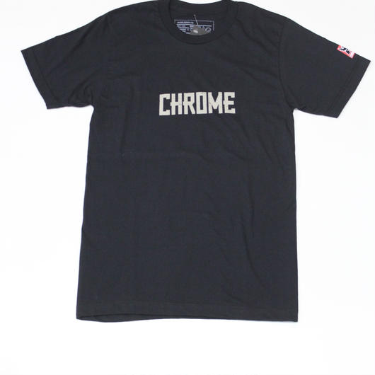 CHROME DISTRESSED TEXT S/S T-SHIRTS